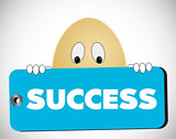 egg with success tag