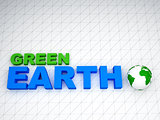 3d earth green