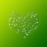 heart made up of drops