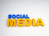 3d social media text