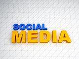 3d social media text