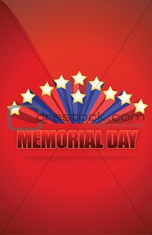 USA Memorial day sign