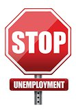 Traffic sign stop unemployment