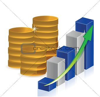 coins business graph