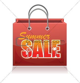 Shopping bag. Summer sale.