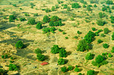 Aerial view of landscape in South Sudan