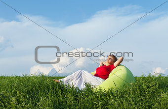 Relaxing in nature - enjoying the sun