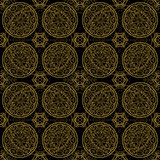 Pattern tile in black and golden color