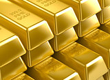 3D gold bars