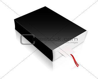 black 3d book