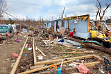 Tornado aftermath in Henryville, Indiana