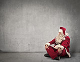 Sitting Santa Claus