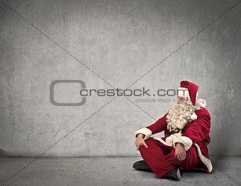 Sitting Santa Claus