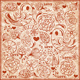 Vector  Valentine's Day  Pattern