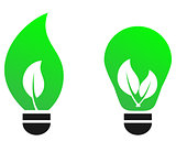 Green bulb leaf vector concept.