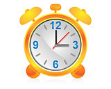 Icon alarm clock for design.
