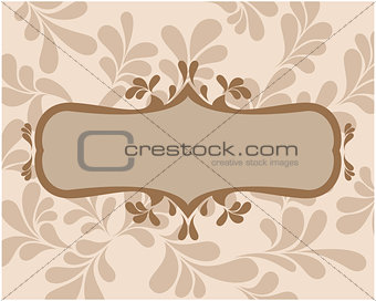 Frame with curls for your text vector.
