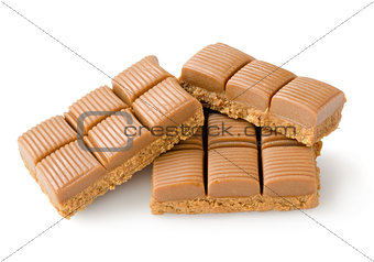 Milk chocolate isolated