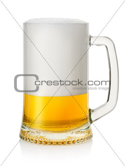 Mug with lager beer 