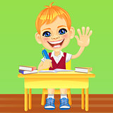Vector happy smiling schoolboy