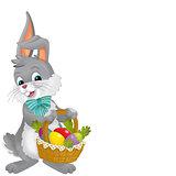 The happy easter rabbit