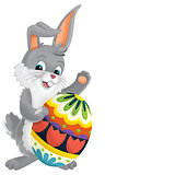 The happy easter rabbit