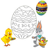 The coloring plate - easter