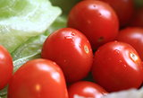 Cherry tomatoes on lettuce