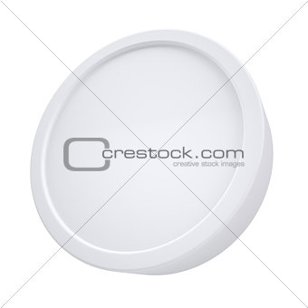 White cylindrical frame