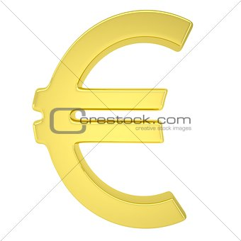 Golden symbol of the European currency