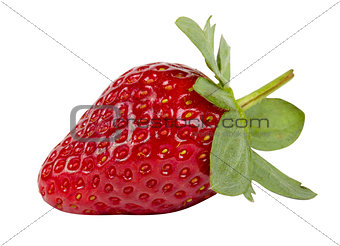 Beautiful strawberry isolated on white