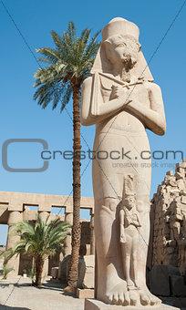 Statue in Karnak temple Luxor
