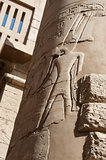 Column at Karnak temple in Luxor