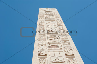 Ancient obelisk at Karnak temple