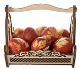 Easter eggs in a decorative basket