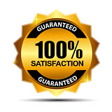 Vector 100% satisfaction guaranteed  label .