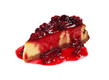 Cheesecake with Berries Sauce