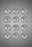 Metal keypad