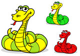Cartoon funny snake