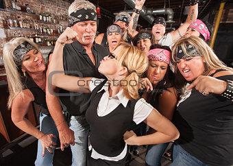 Gang Cheering On Nerd Flexing