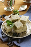 Traditional oriental dessert of sunflower seeds - halva