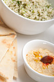 taboulii couscous with hummus