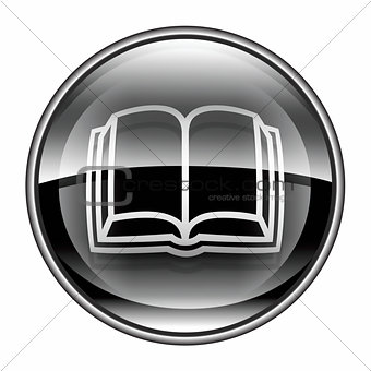 book icon black, isolated on white background.