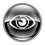 eye icon black, isolated on white background.