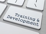 Training &amp; Development - Button on Keyboard.
