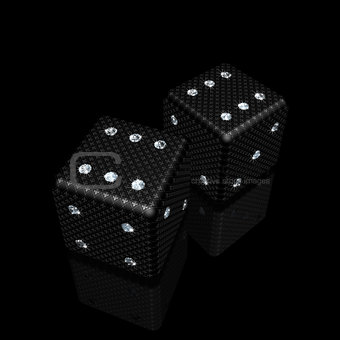 dice with diamonds
