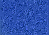Blue embossed paper