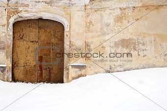 Old gates and snow
