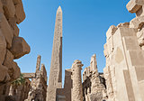 Ancient ruins at Karnak temple
