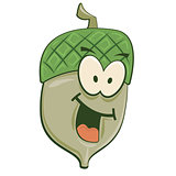 Smiling Cartoon Acorn